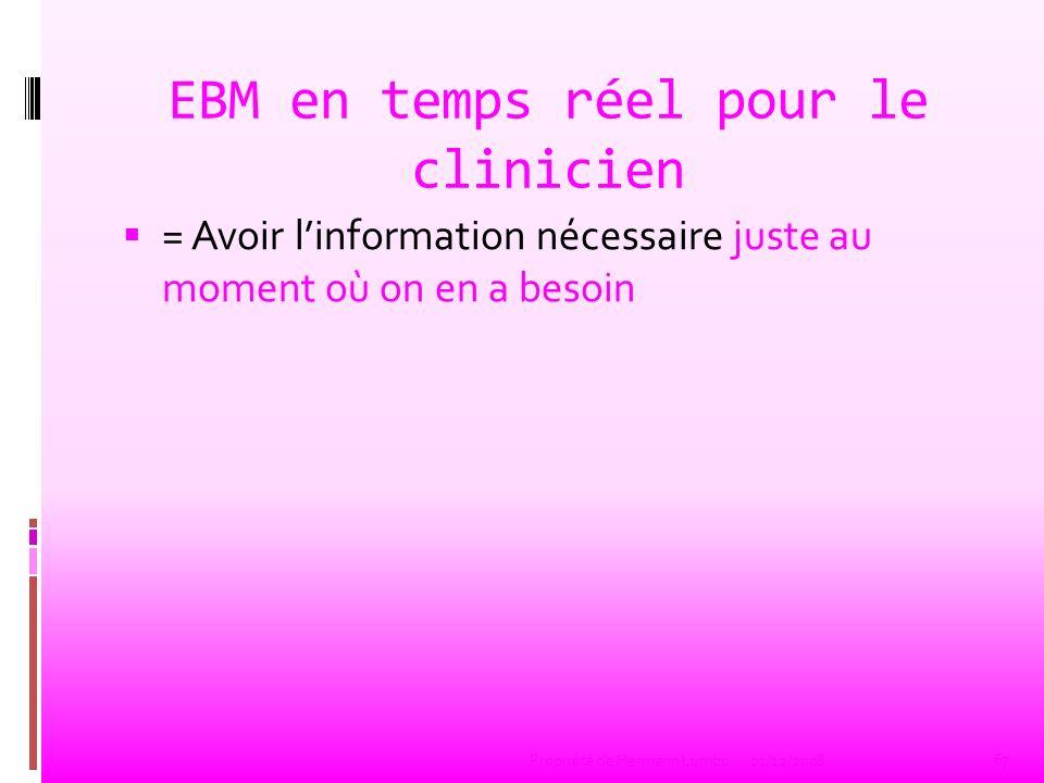EBM en temps réel pour le clinicien