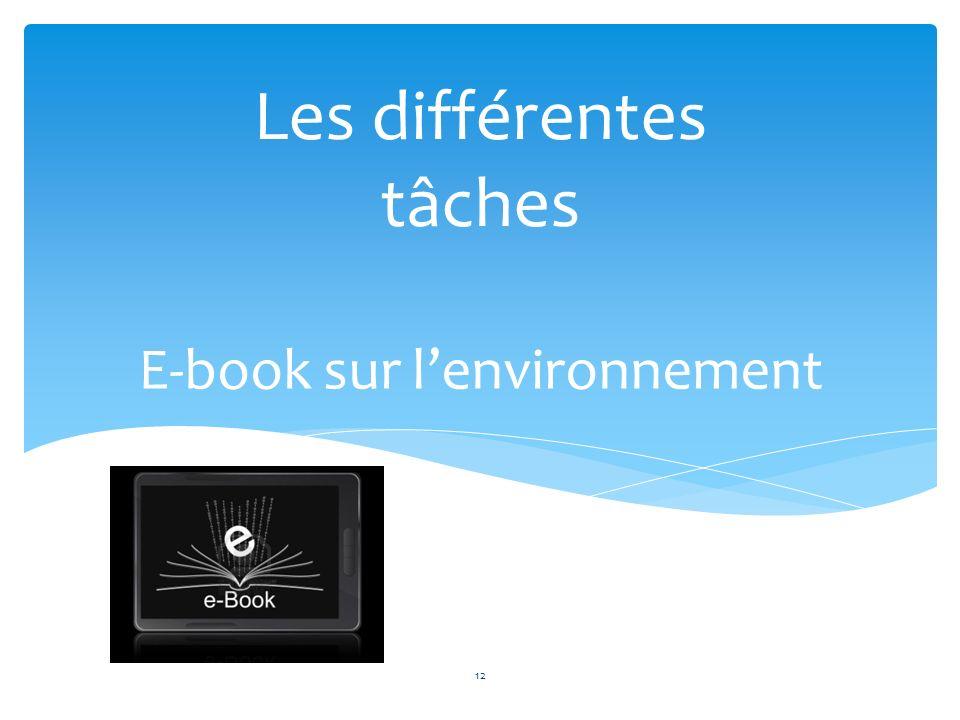E-book sur l'environnement
