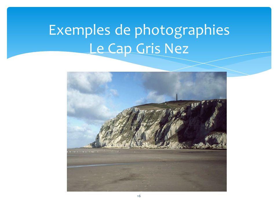 Exemples de photographies Le Cap Gris Nez
