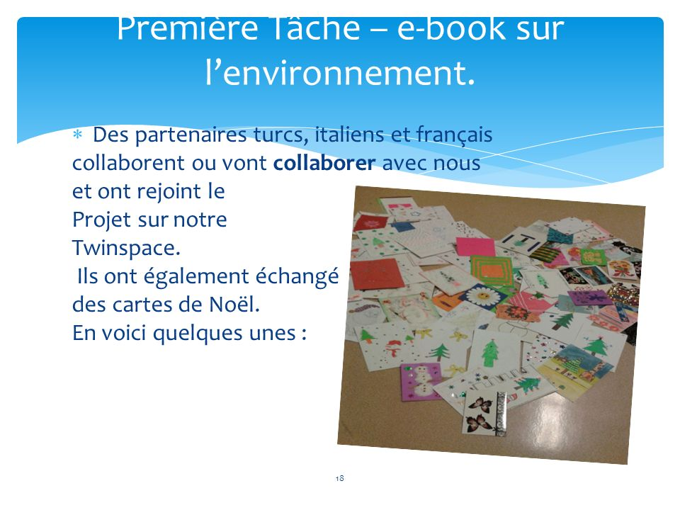 Première Tâche – e-book sur l'environnement.