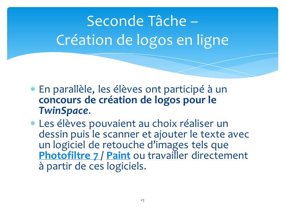 Seconde Tâche – Création de logos en ligne