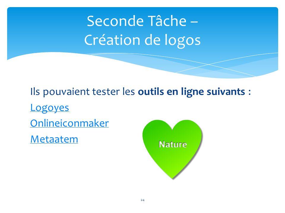Seconde Tâche – Création de logos