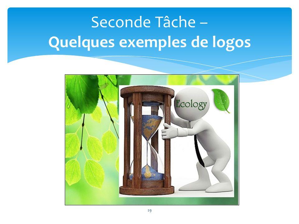 Seconde Tâche – Quelques exemples de logos