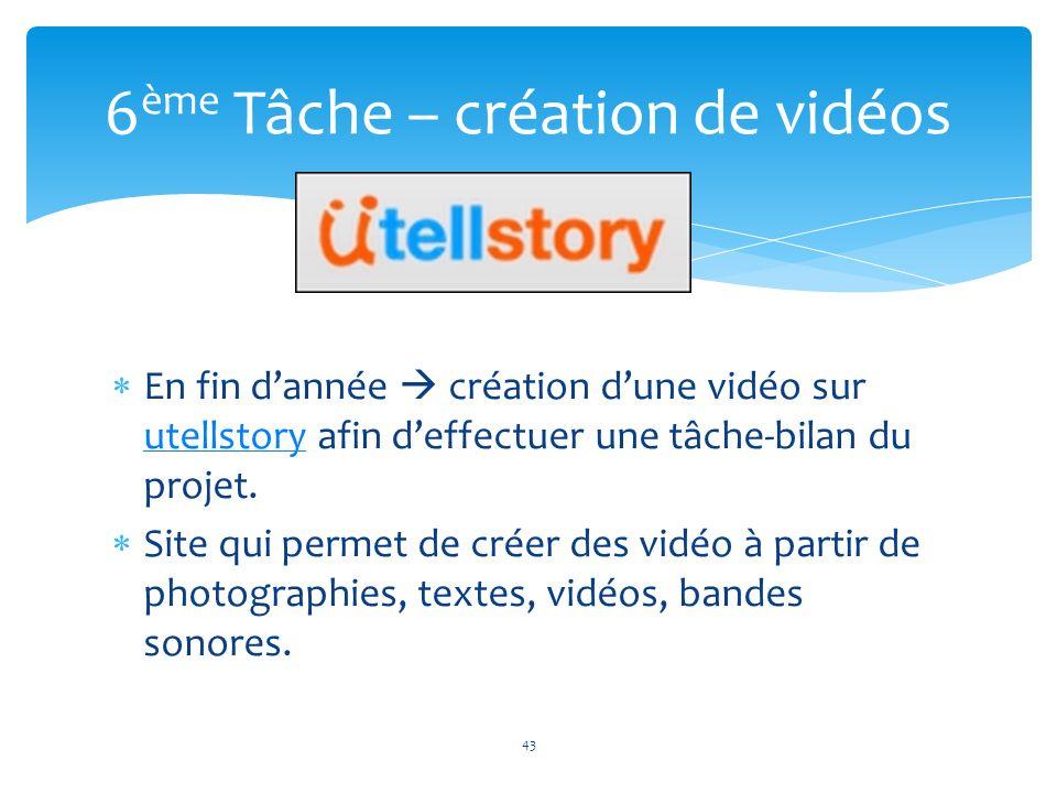 6ème Tâche – création de vidéos