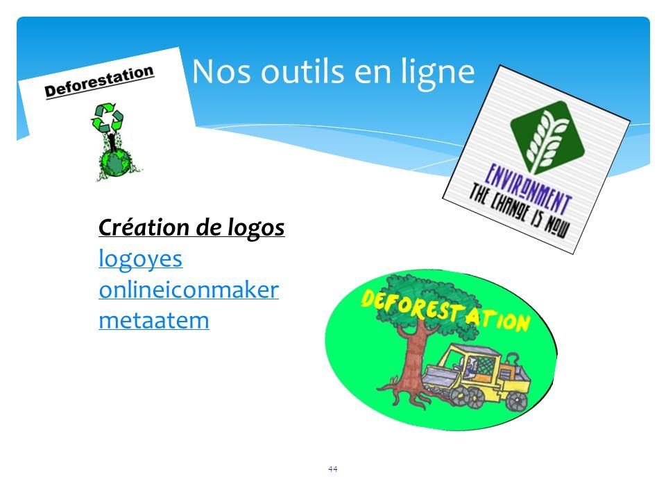 Nos outils en ligne 44 Création de logos logoyes onlineiconmaker