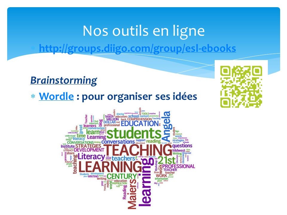 Nos outils en ligne 46 http://groups.diigo.com/group/esl-ebooks