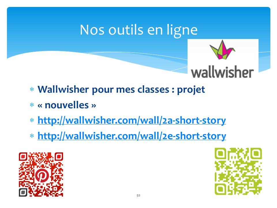 Nos outils en ligne 52 Wallwisher pour mes classes : projet