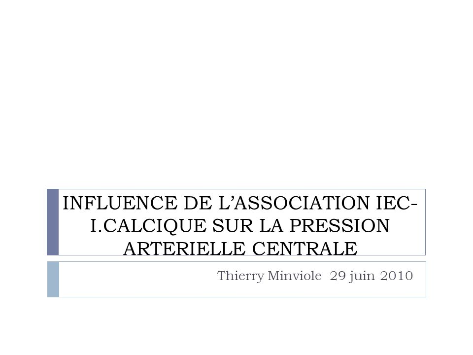 INFLUENCE DE L'ASSOCIATION IEC-I