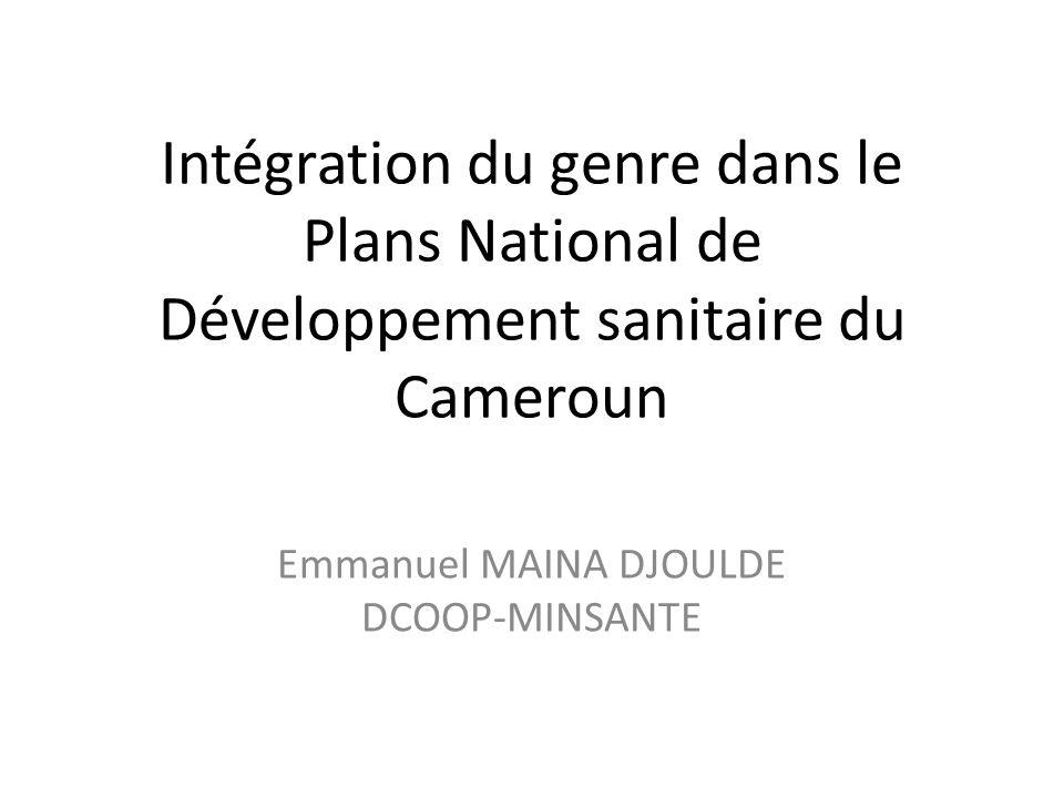 Emmanuel MAINA DJOULDE DCOOP-MINSANTE