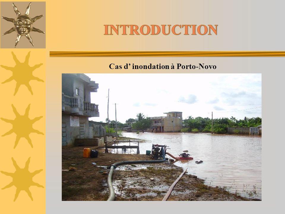 Cas d' inondation à Porto-Novo