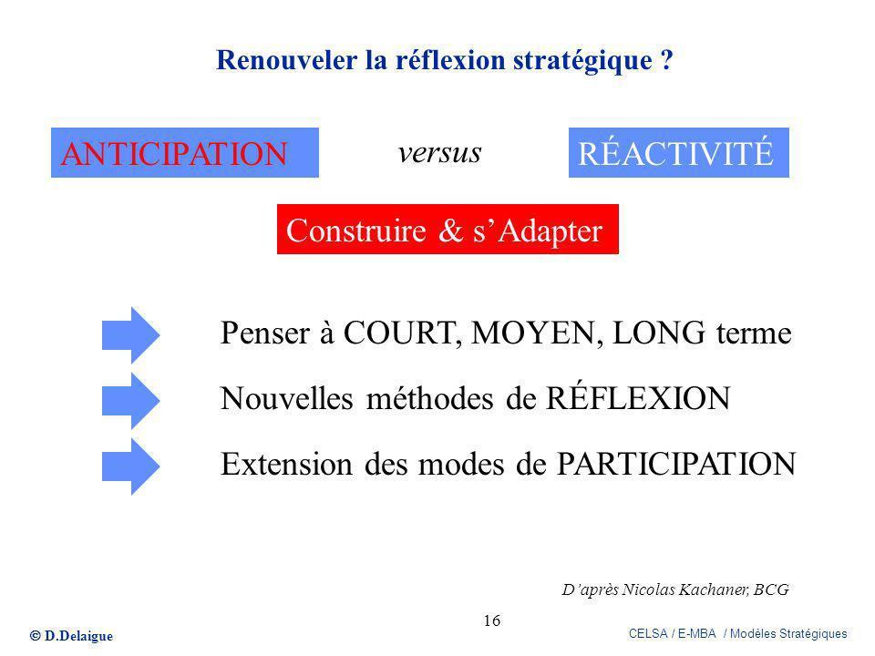 Renouveler la réflexion stratégique