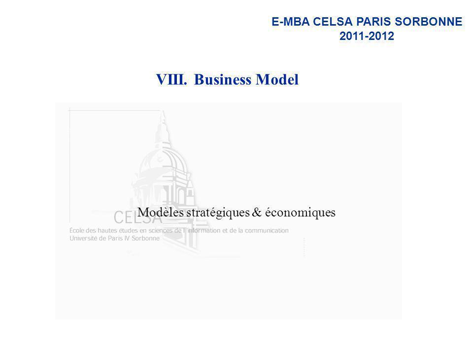 Modèles stratégiques & économiques