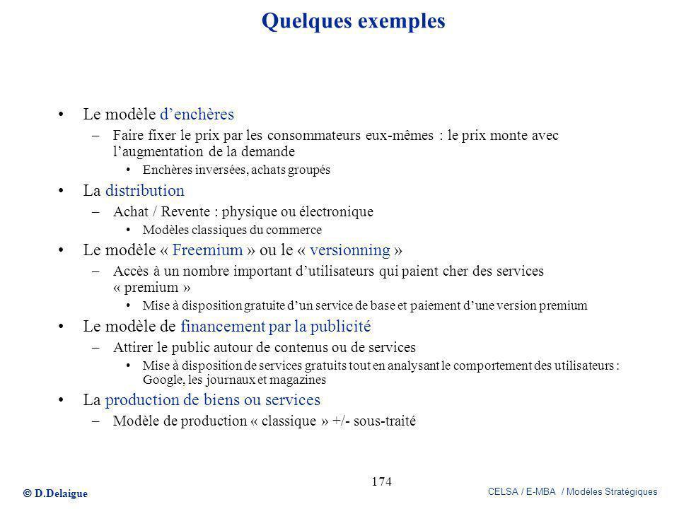 Quelques exemples Le modèle d'enchères La distribution