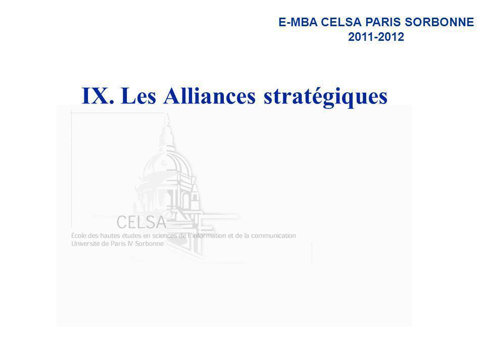 IX. Les Alliances stratégiques