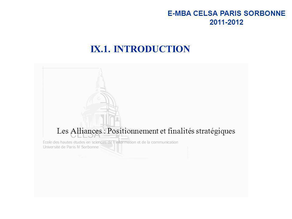 Les Alliances : Positionnement et finalités stratégiques