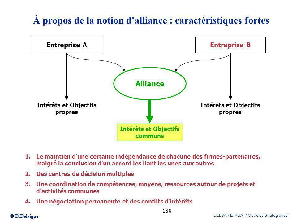 À propos de la notion d alliance : caractéristiques fortes