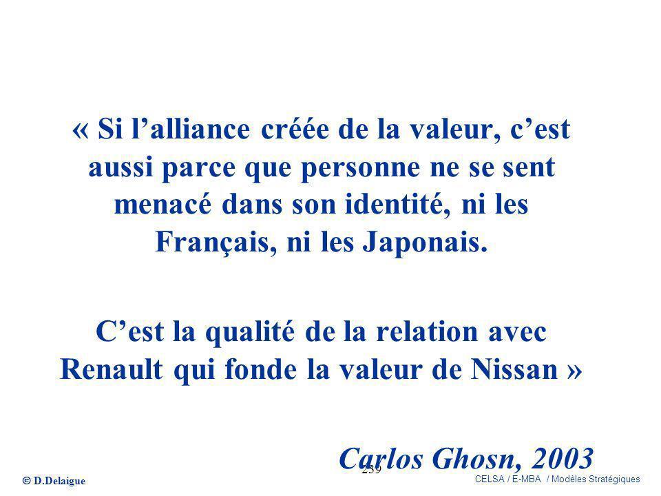 « Si l'alliance créée de la valeur, c'est aussi parce que personne ne se sent menacé dans son identité, ni les Français, ni les Japonais.