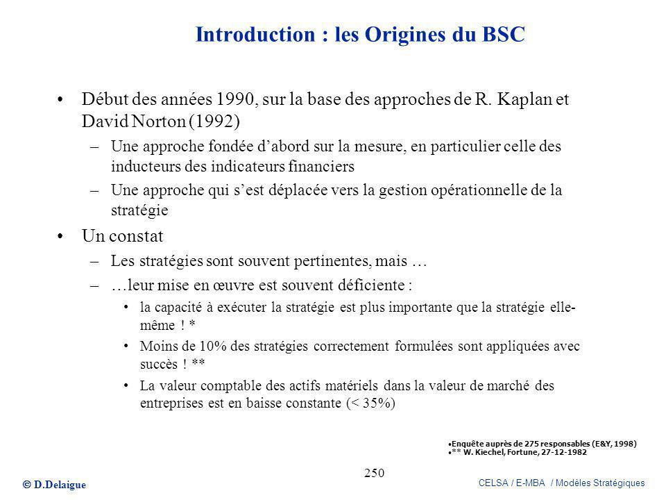 Introduction : les Origines du BSC