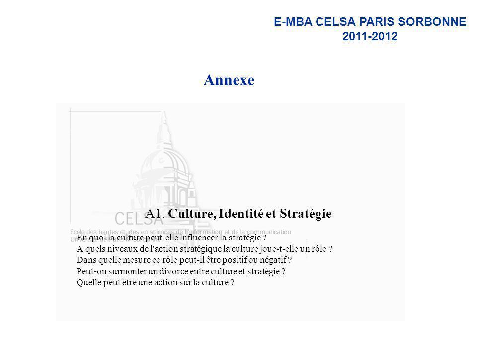 A1. Culture, Identité et Stratégie