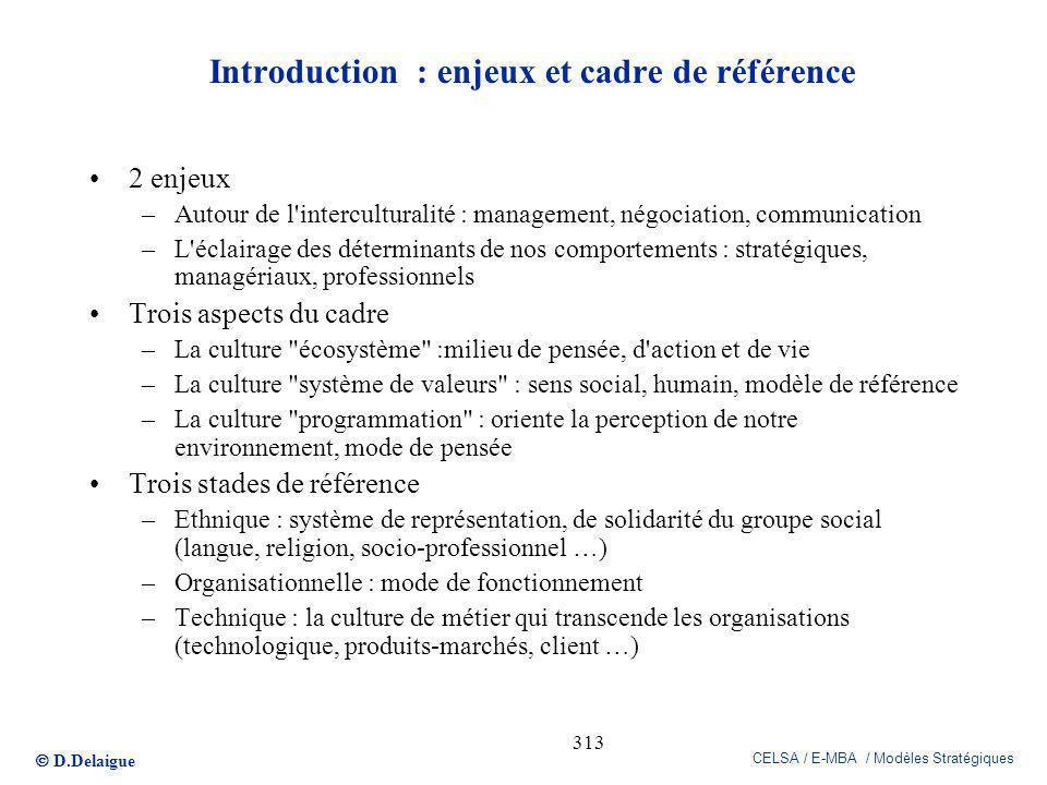 Introduction : enjeux et cadre de référence