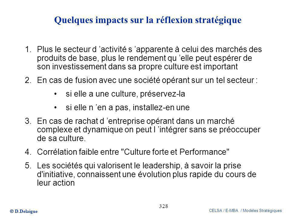 Quelques impacts sur la réflexion stratégique