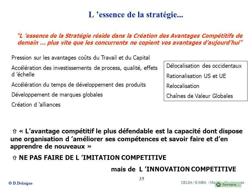 L 'essence de la stratégie...