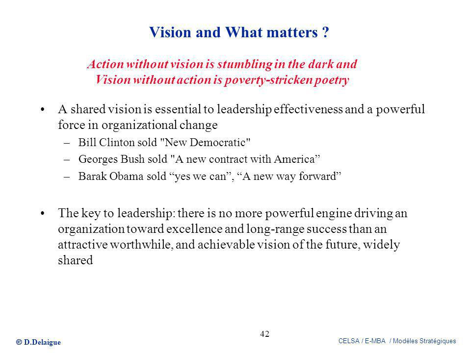Vision and What matters