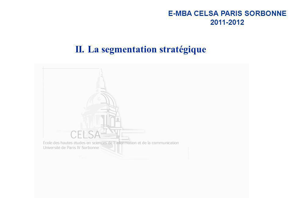 II. La segmentation stratégique