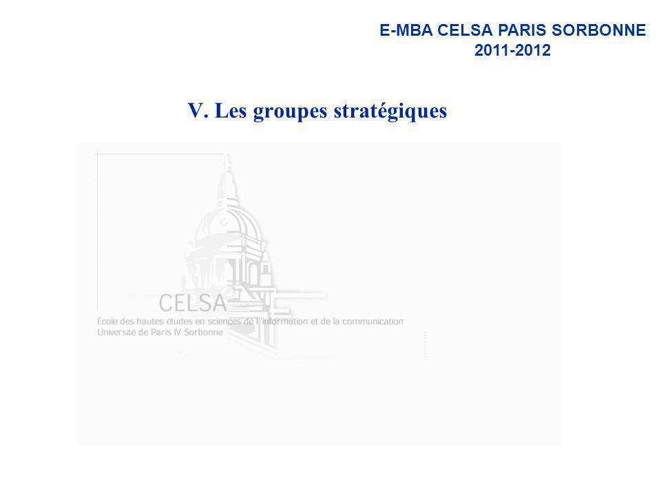 V. Les groupes stratégiques