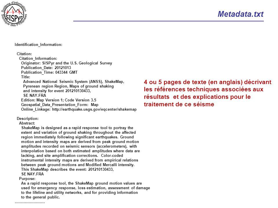 Metadata.txt 4 ou 5 pages de texte (en anglais) décrivant