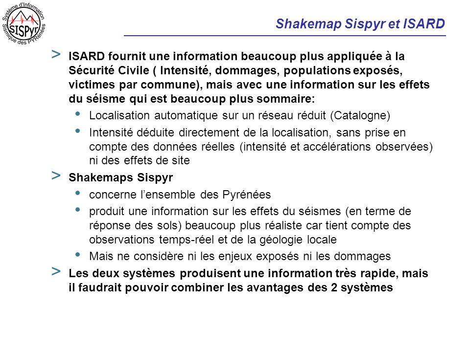 Shakemap Sispyr et ISARD