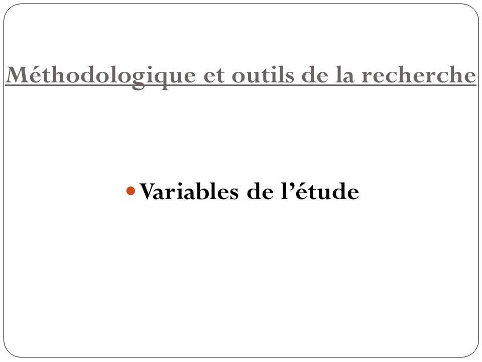 Méthodologique et outils de la recherche