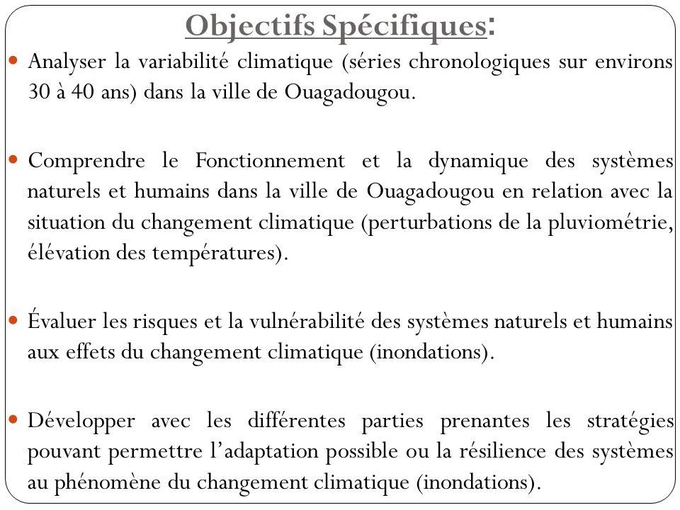 Objectifs Spécifiques:
