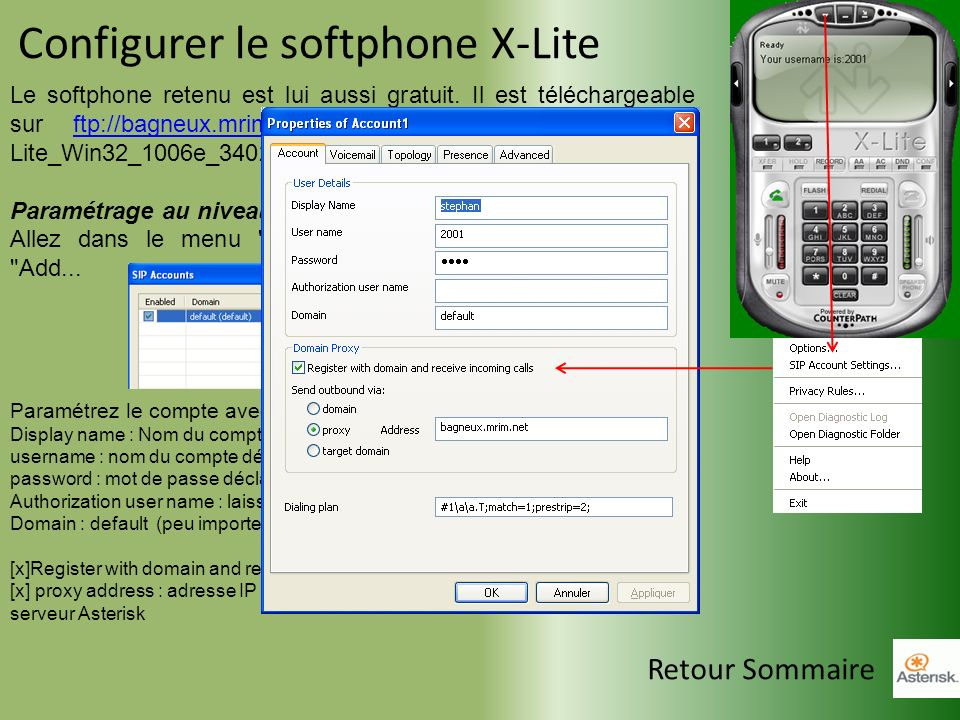 Configurer le softphone X-Lite