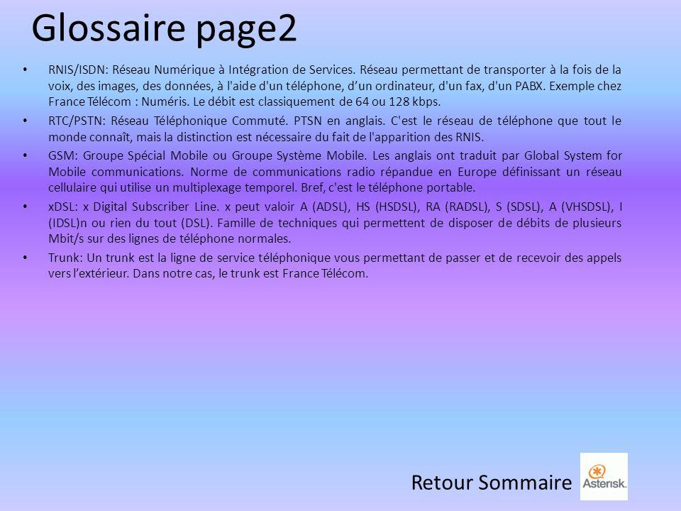 Glossaire page2 Retour Sommaire