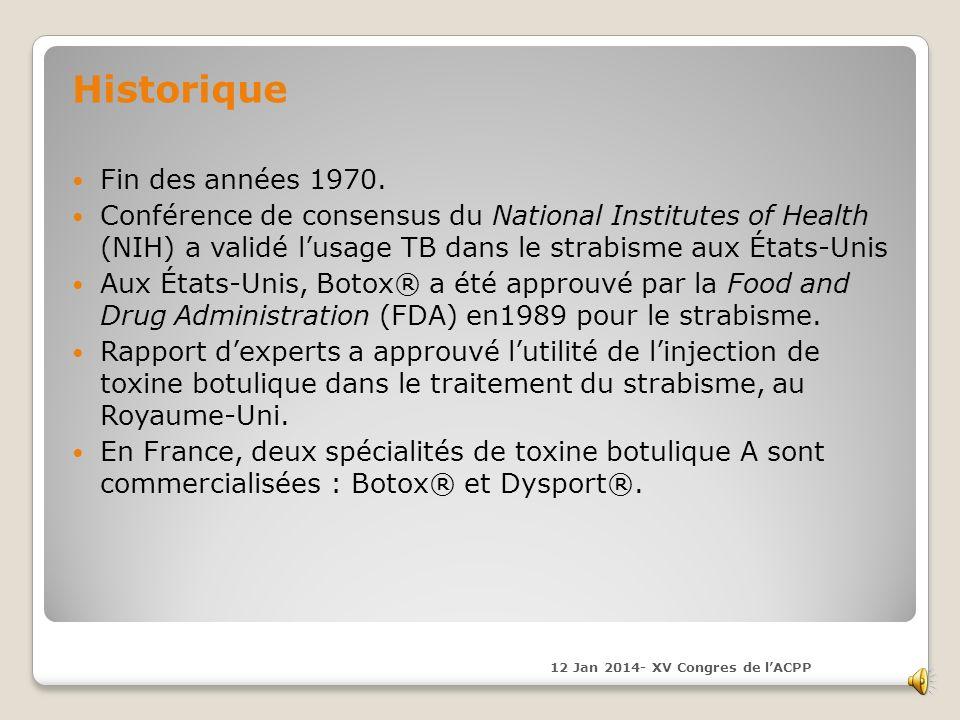 Historique Fin des années 1970.