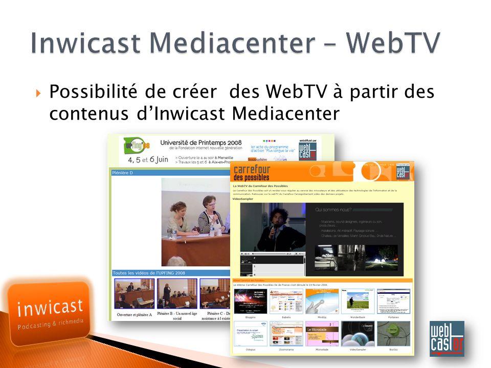 Inwicast Mediacenter – WebTV