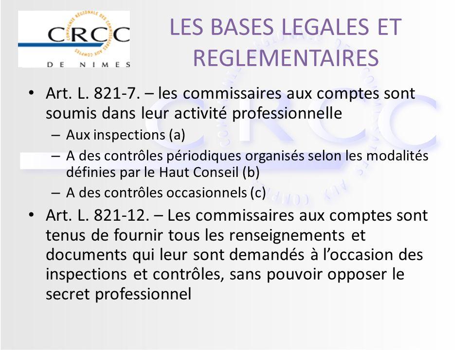 LES BASES LEGALES ET REGLEMENTAIRES