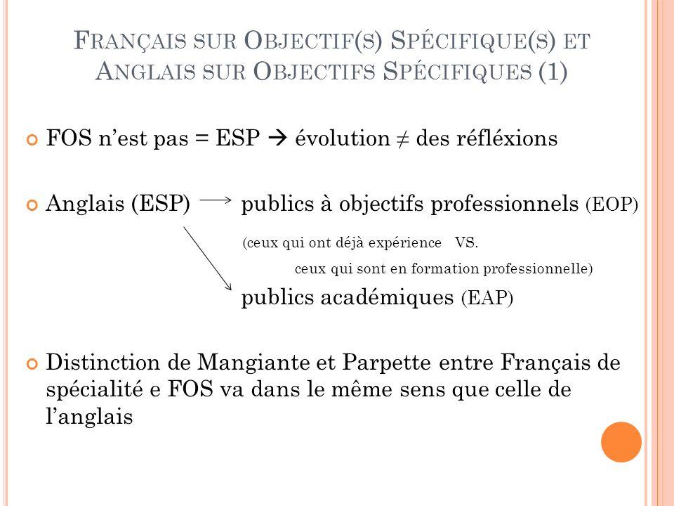 Français sur Objectif(s) Spécifique(s) et Anglais sur Objectifs Spécifiques (1)