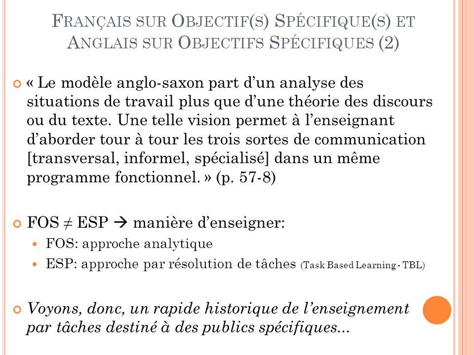 Français sur Objectif(s) Spécifique(s) et Anglais sur Objectifs Spécifiques (2)