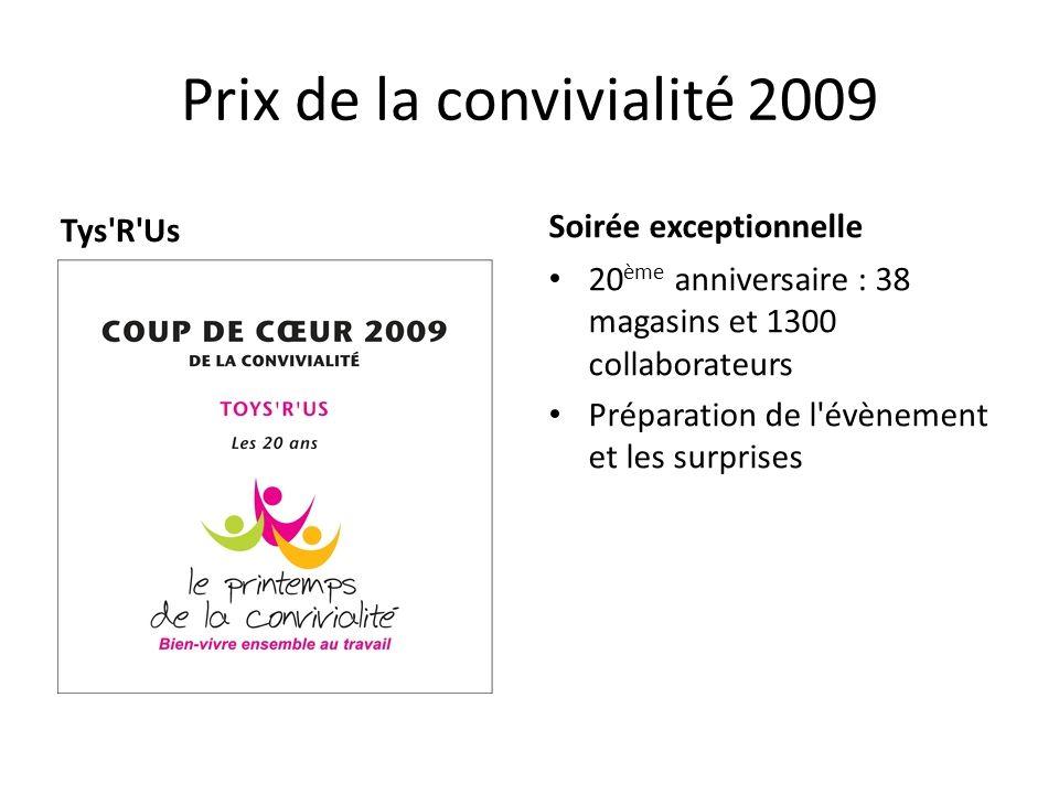 Prix de la convivialité 2009