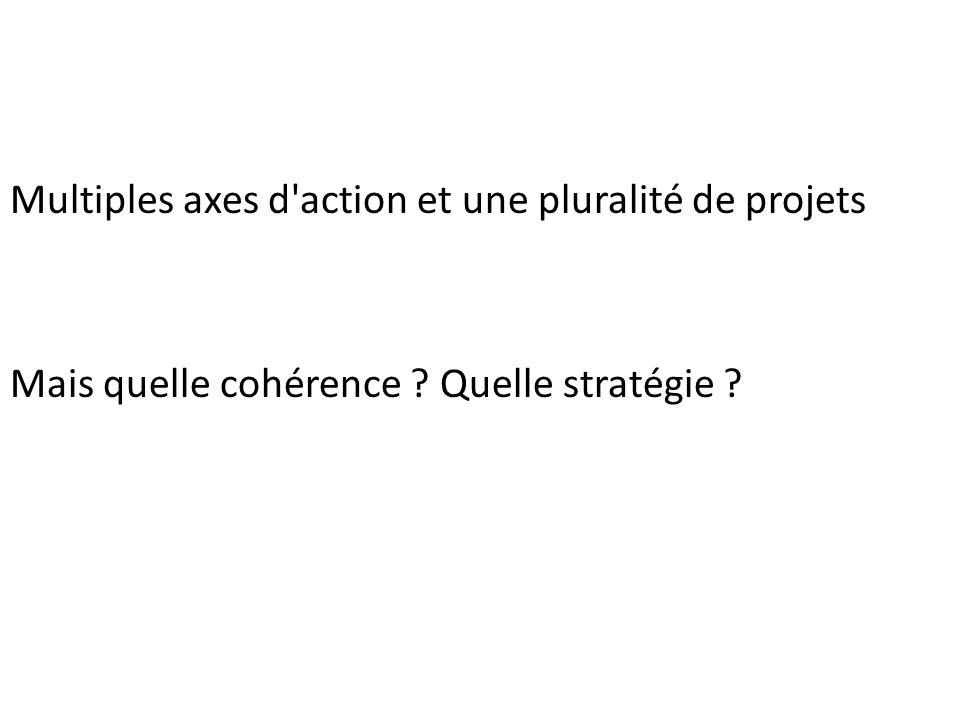 Multiples axes d action et une pluralité de projets Mais quelle cohérence Quelle stratégie