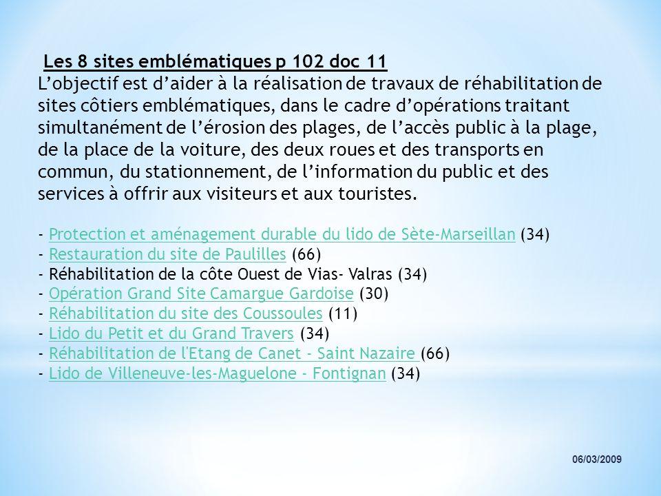 Les 8 sites emblématiques p 102 doc 11