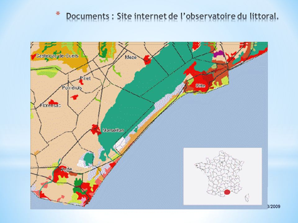 Documents : Site internet de l'observatoire du littoral.