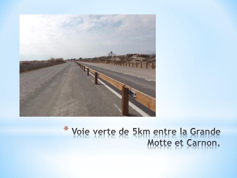 Voie verte de 5km entre la Grande Motte et Carnon.