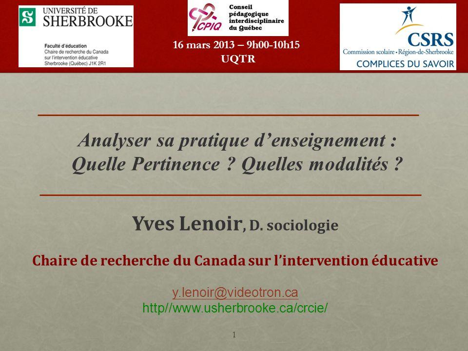 Yves Lenoir, D. sociologie
