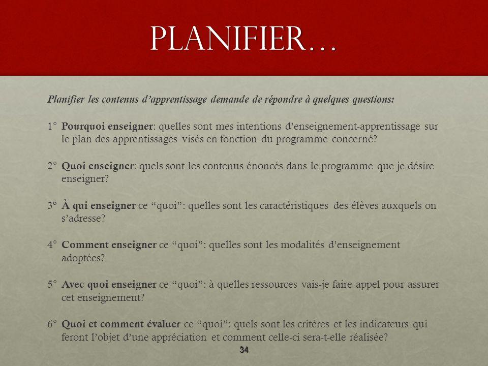 Planifier…