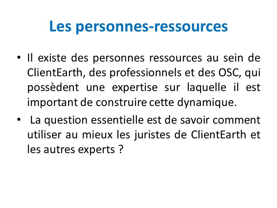 Les personnes-ressources