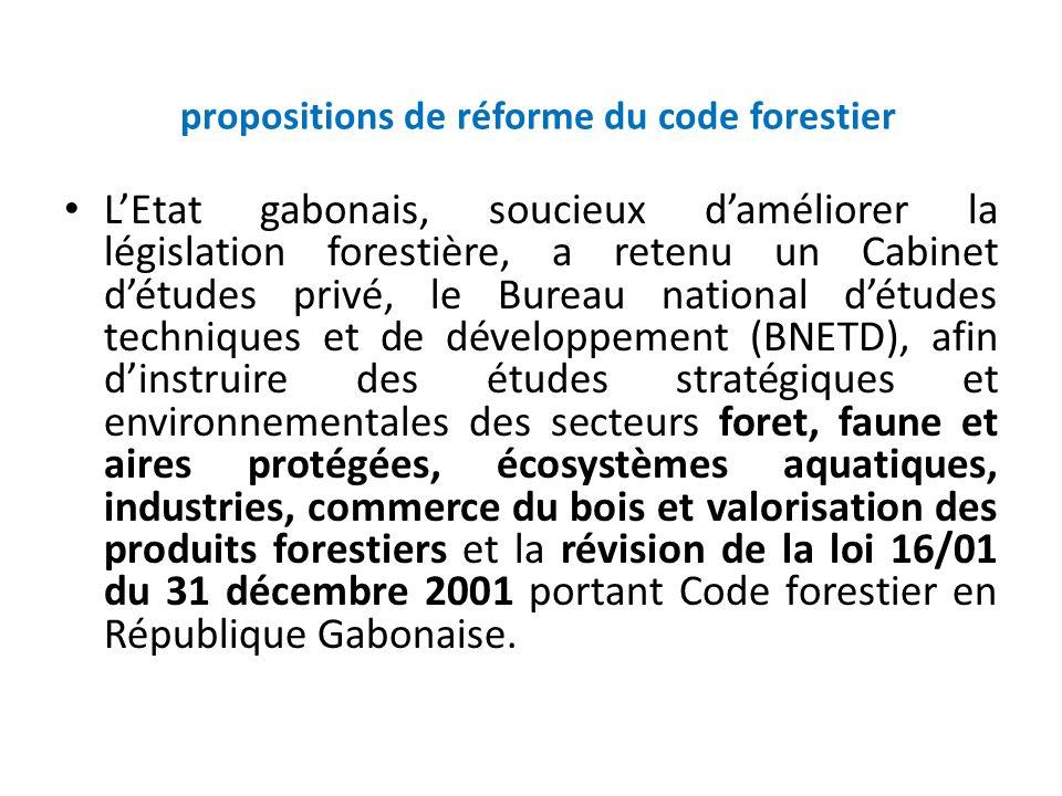 propositions de réforme du code forestier
