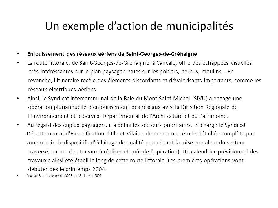Un exemple d'action de municipalités